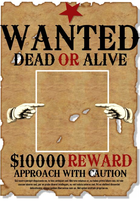 online wanted poster maker layouts