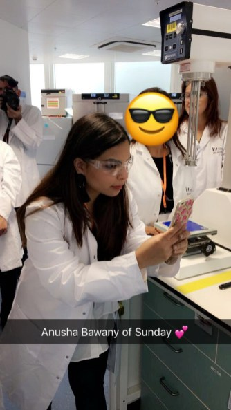 Anusha Bawany in the Physiogel Lab