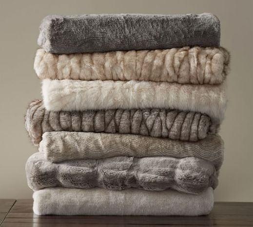 Plush Throws in Neutral colours
