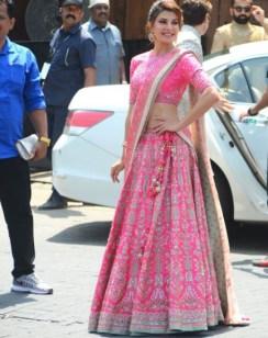 Jacqueline Fernandez in a pink number