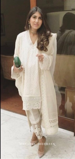 Menahel Mehreen's lace edged dupattas were at the leading edge of this trend