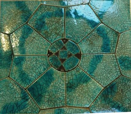 Tile composition. 80 x 80 cm.
