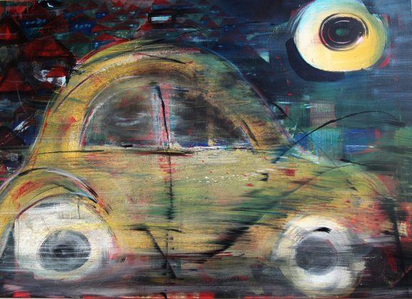 """Night"". 120 x 80cm. Ακρυλικά χρώματα."