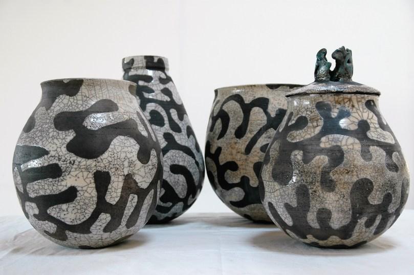 Raku. Dragon Bowls.