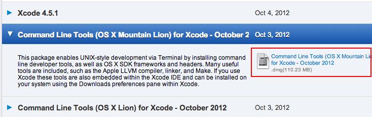 xcode-command-line-tool