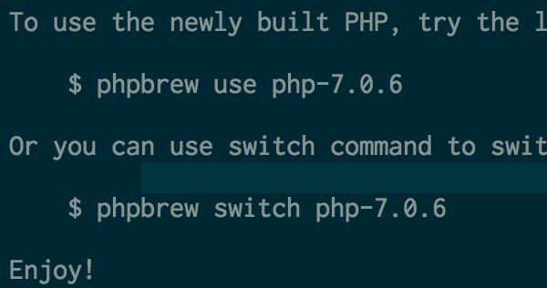 Macにphpbrewでphp7をインストール