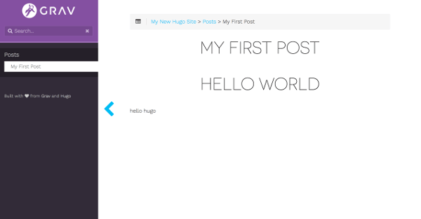 HUGO Learn 最初のページ