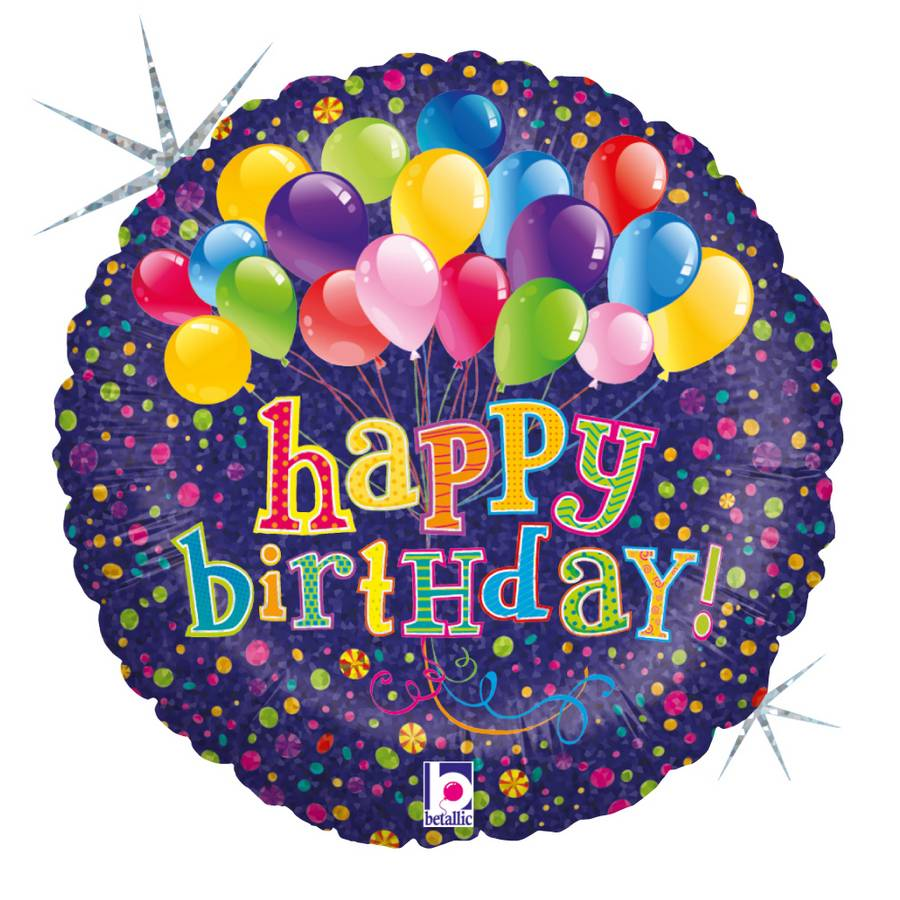 Karaloon Shop 1 Foil Balloon Happy Birthday Balloons