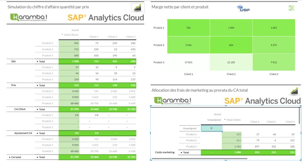 Saisie & allocation dans SAP Analytics Cloud