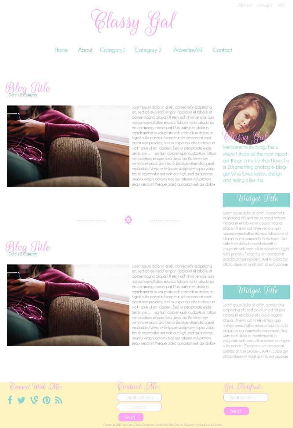 Classy Gal WordPress Theme by Kara Rajchel