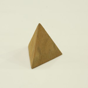 Handcrafted WOOD TETRAHEDRON(Triangle), Home, Garden, Pot, Decor, Jewellery Display Stand, TEAK, 70-110-mm or 3-4-inch Width