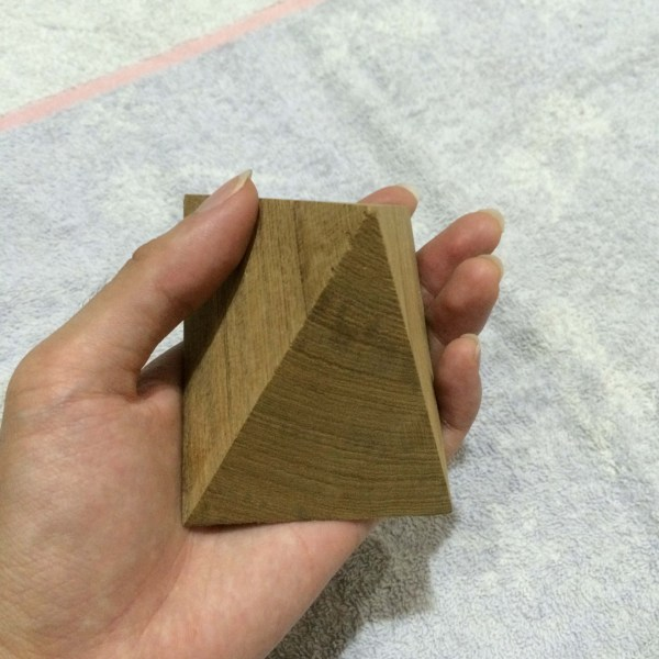 Handcrafted WOOD Square PYRAMID, Home, Garden, Pot, Decor, Jewellery Display Stand, TEAK, 65 to 200-mm or 2-1/2 to 8-inch Width