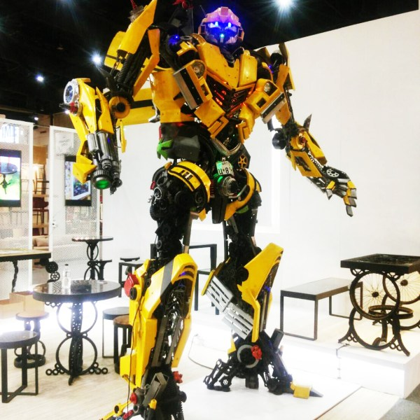 Handcrafted METAL Robot(Standard Motion Automaton), Home, Workplace, Office, Display, Decor, Demonstration, Exhibition, 1000 to 5000-mm or 39-1/2 to 197-inches, Real Auto Parts