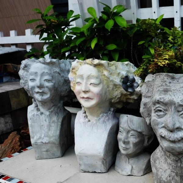 Handcrafted Cement GIRL FACE Planter(Female Face Plant Pot), House, Office, Garden Plant Pot, Unique Pot, Container, 500-mm, 20-inches(H)
