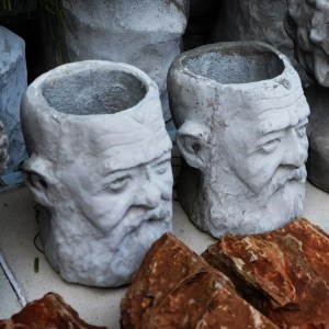 Handcrafted Cement Auguste Rodin Planter(Rodin Plant Pot), House, Office, Garden Plant Pot, Unique Pot, Container, 500-mm, 20-inches(Height)