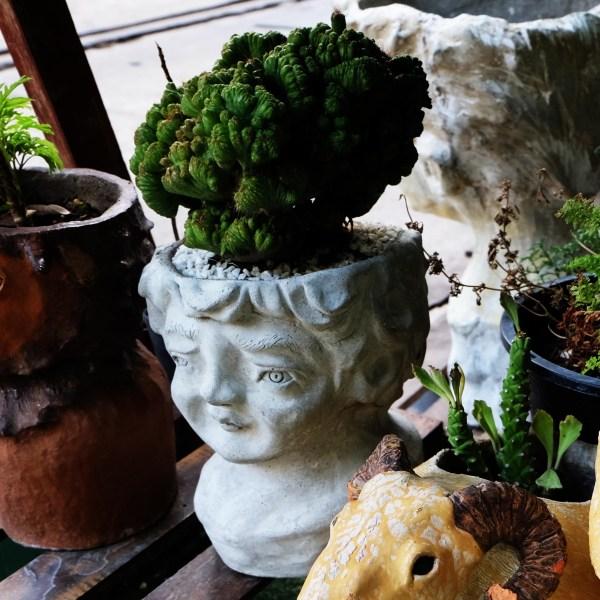 Handcrafted Cement CHILD FACE Planter(Male Face Plant Pot), House, Office, Garden Plant Pot, Unique Pot, Container, 500-mm, 20-inches(H)