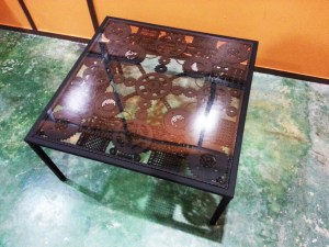 Handcrafted METAL Rectangular Table(Square), Home, Office, Working, Living or Dining Room, 800-mm or 31-1/2-inches, Real Auto Parts