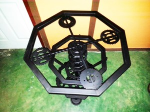 Handcrafted METAL Octagonal Rotatable Table(Polygon), Home, Office, Working, Living or Dining Room, 800-mm or 31-1/2-inches, Real Auto Parts