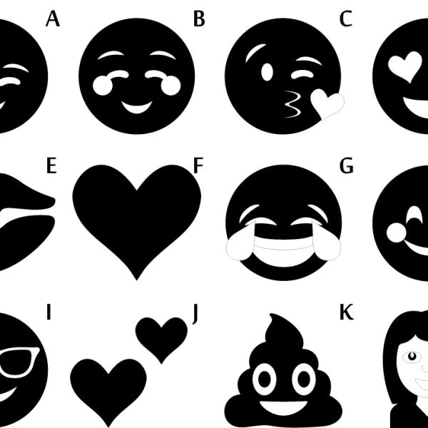 Handcrafted Emoji Sticker Vinyl Decal(Modern Label), Car, Skateboard, Desktop, Laptop, Luggage, Home, Working, Party, 70-mm or 3-inch Width