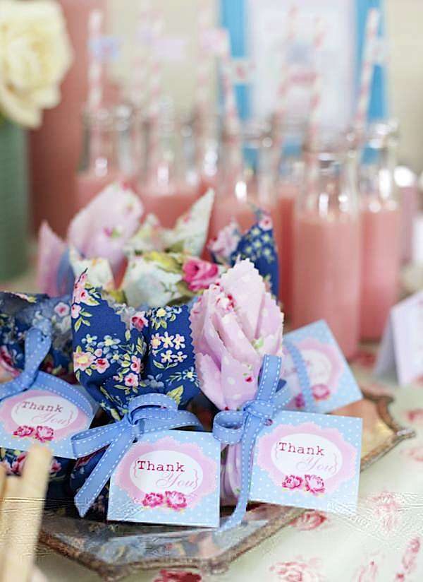 Karas Party Ideas Shabby Chic Princess Girl Pink Vintage
