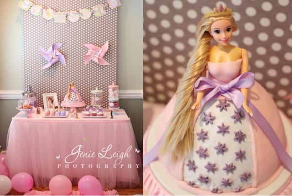 Karas Party Ideas Disneys Tangled Rapunzel Girl Princess