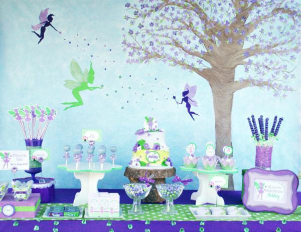Kara S Party Ideas Disney Tinkerbell Fairy Pixie Girl 7th