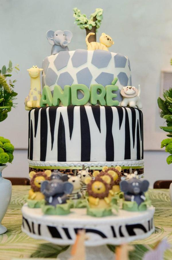 Safari Animal Cake Decorations