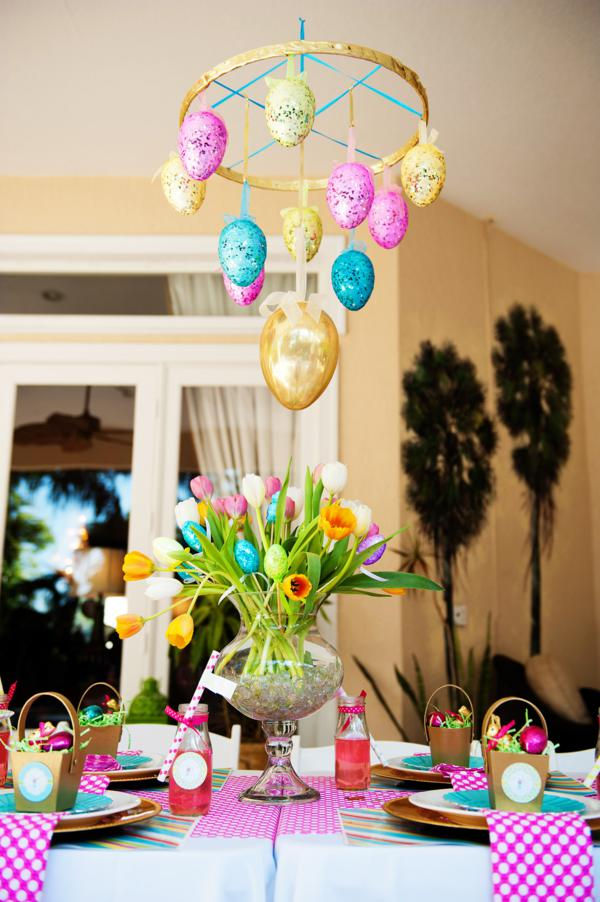 Karas Party Ideas Pastel Easter Themed Spring Party Via