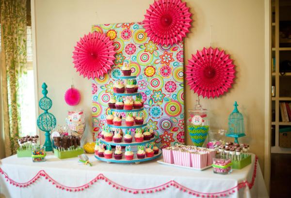 Kara S Party Ideas Owl Whoo S One Themed Birthday Party Supplies Planning Idea