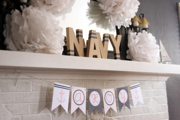 Kara S Party Ideas Sailor Girl Nautical Birthday Party