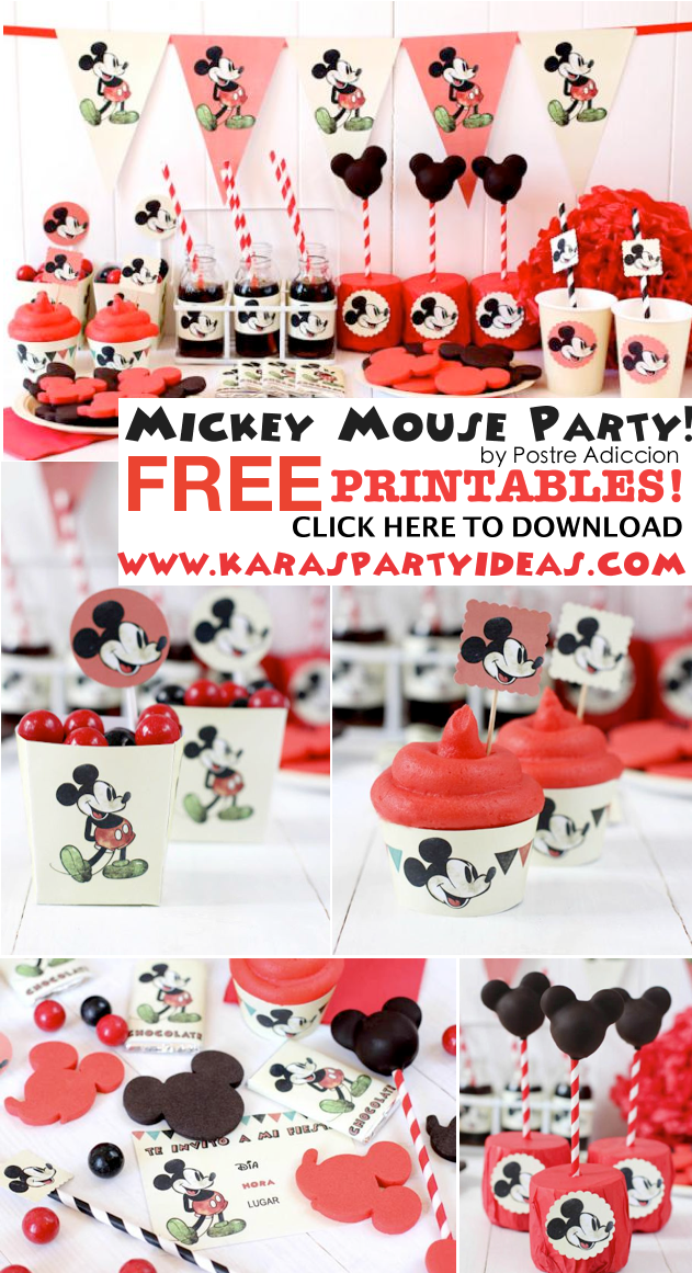 Karas Party Ideas Mickey Mouse Themed Birthday Party With