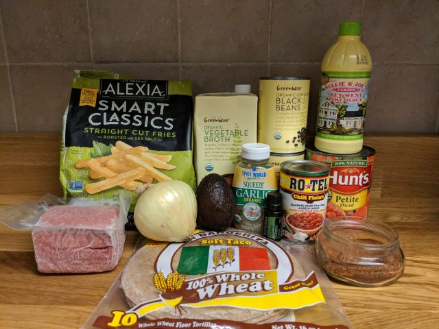 California burrito chili ingredients