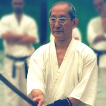 Master Harada with a bokken