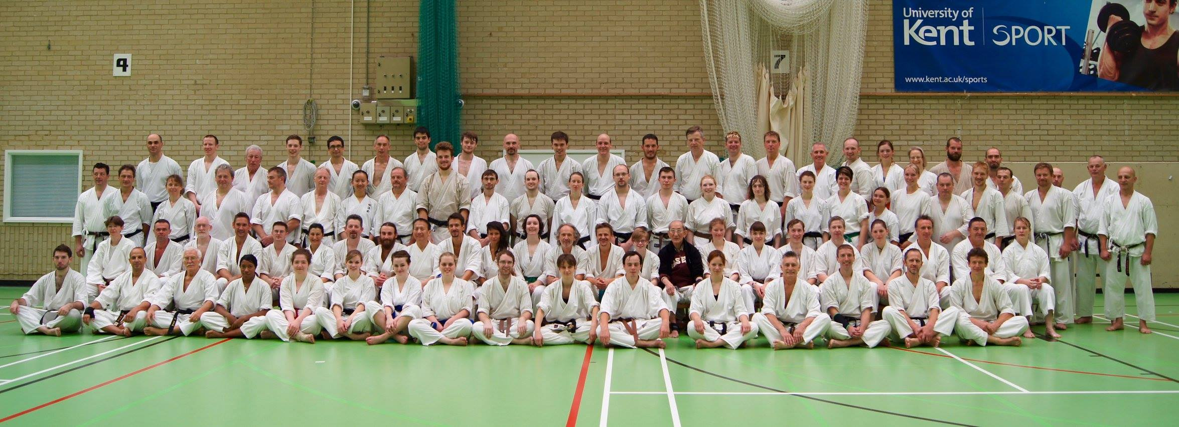 Group photo at the end of a course