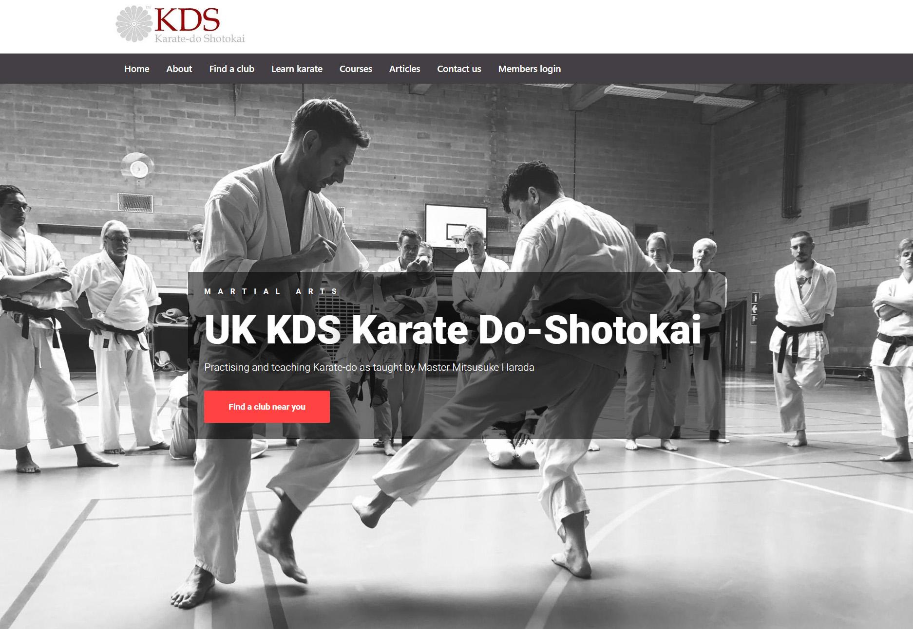 Screenshot of the new website