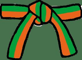 Cinturón Naranja/Verde