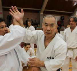 Taira Masaji demonstrating Goju-Ryu techniques