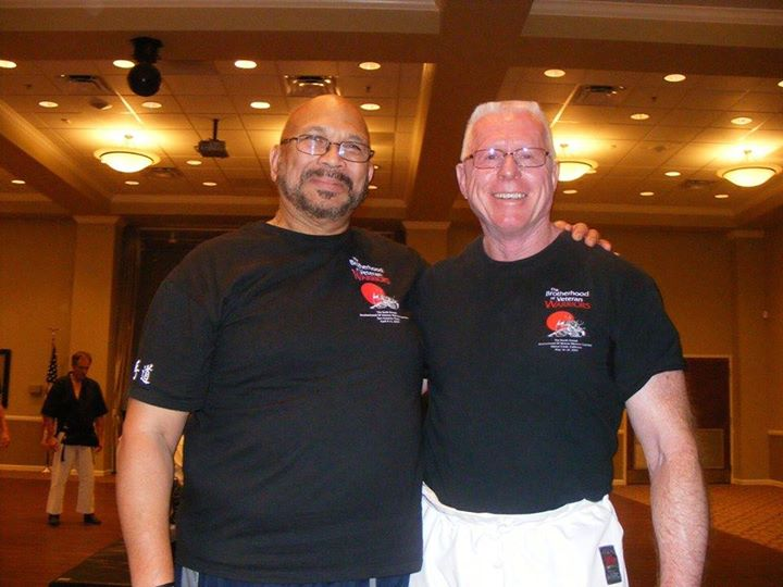 Duke Ali Sharif-Bey (L) and Ed Sumner (R) at the 2014 Brotherhood of Veteran Warriors Gasshuku
