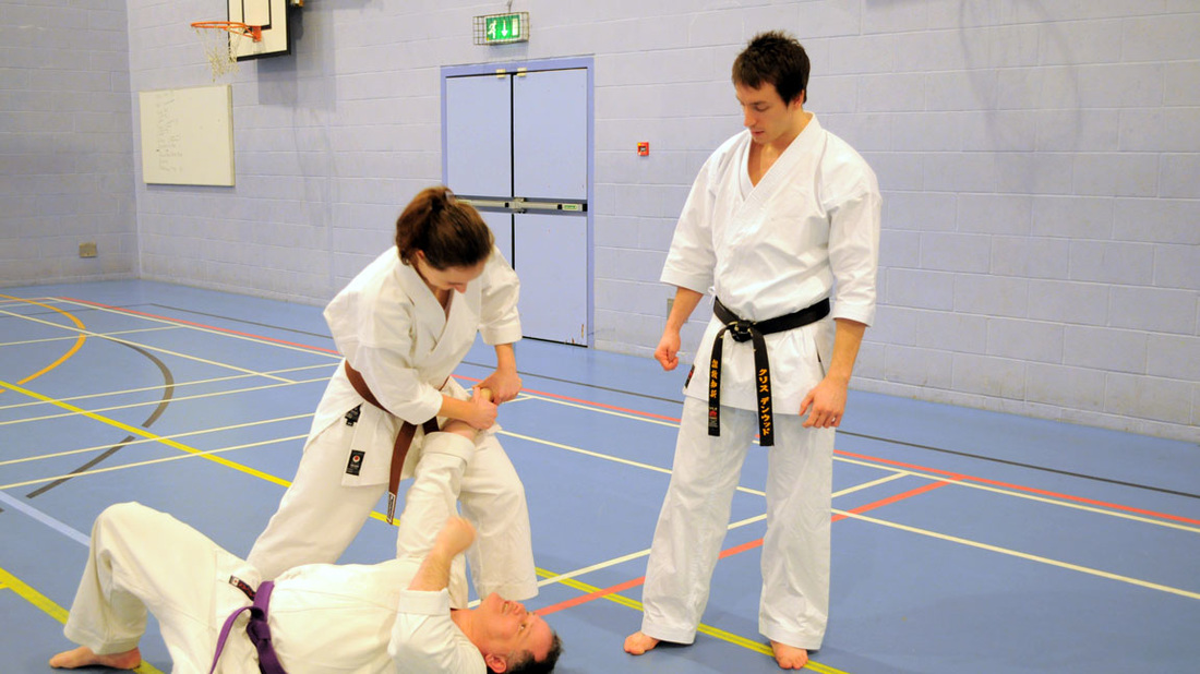 Chris Denwood Sensei teaching at a seminar