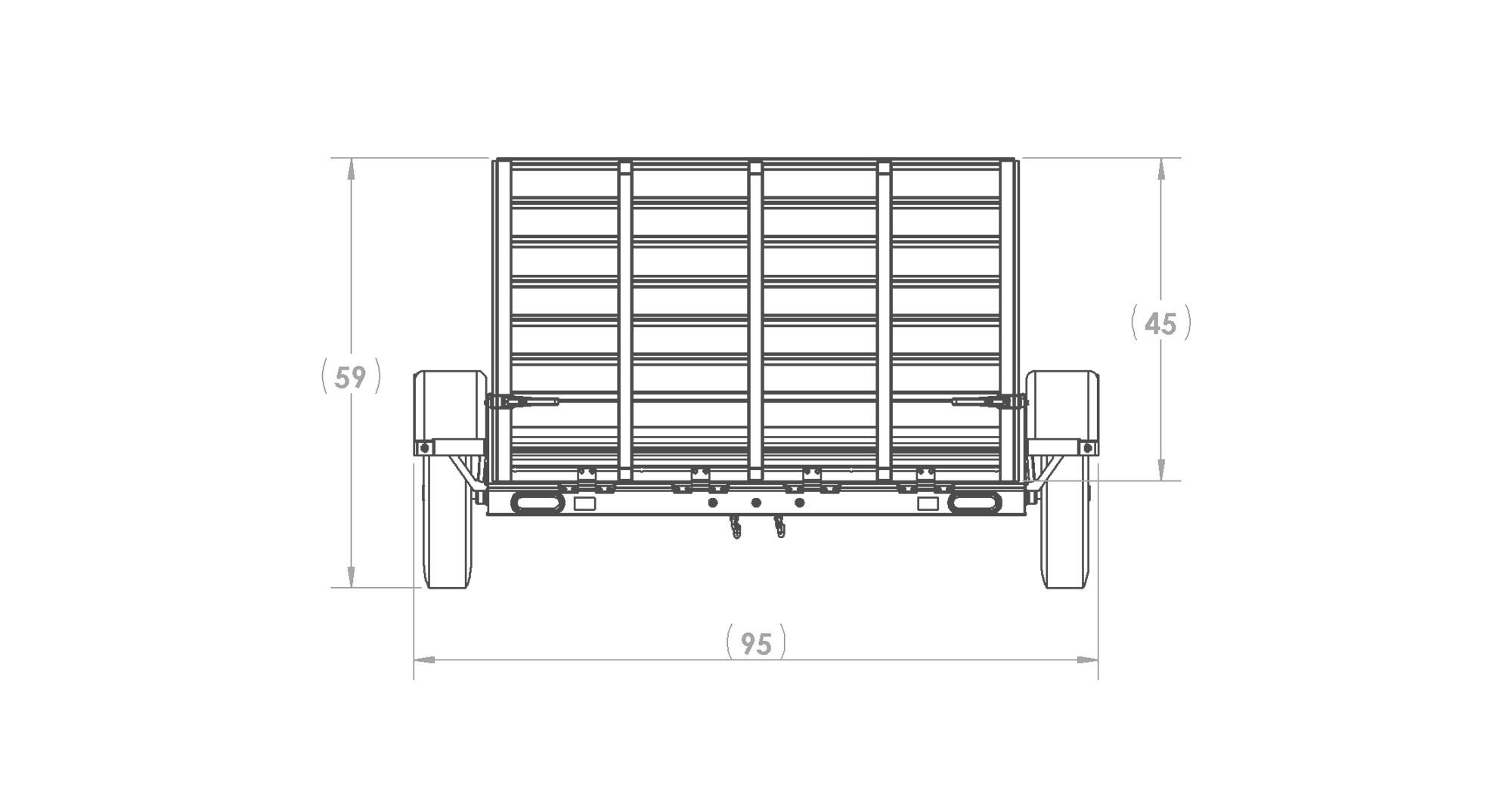 6 X 10 Ft Aluminum Utility Trailer