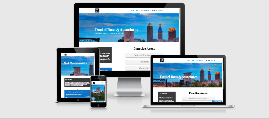 Daniel Ross & Associates Law Firm Web Design & Development Project