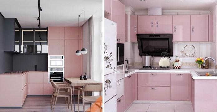 صور.. مطابخ باللون الوردي ستسحرك بجمالها