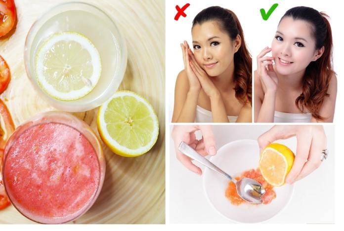 كيف تستخدمين الليمون والطماطم لتفتيح البشرة