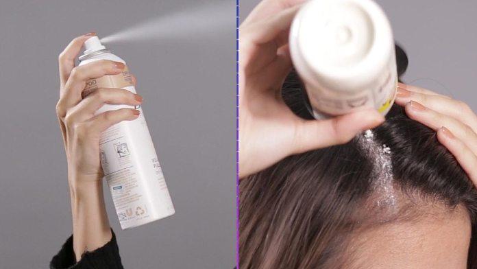 الشامبو الجاف لغسل الشعر دون ماء