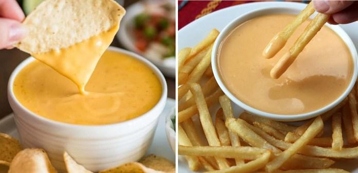 طريقة صوص الجبن للبطاطس المقلي والمقرمشات