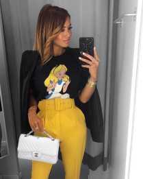 أفكار لارتداء اللون الأصفر 6