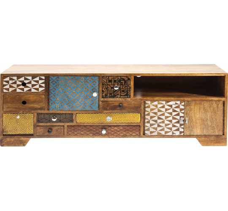 meuble tv en bois soleil kare design