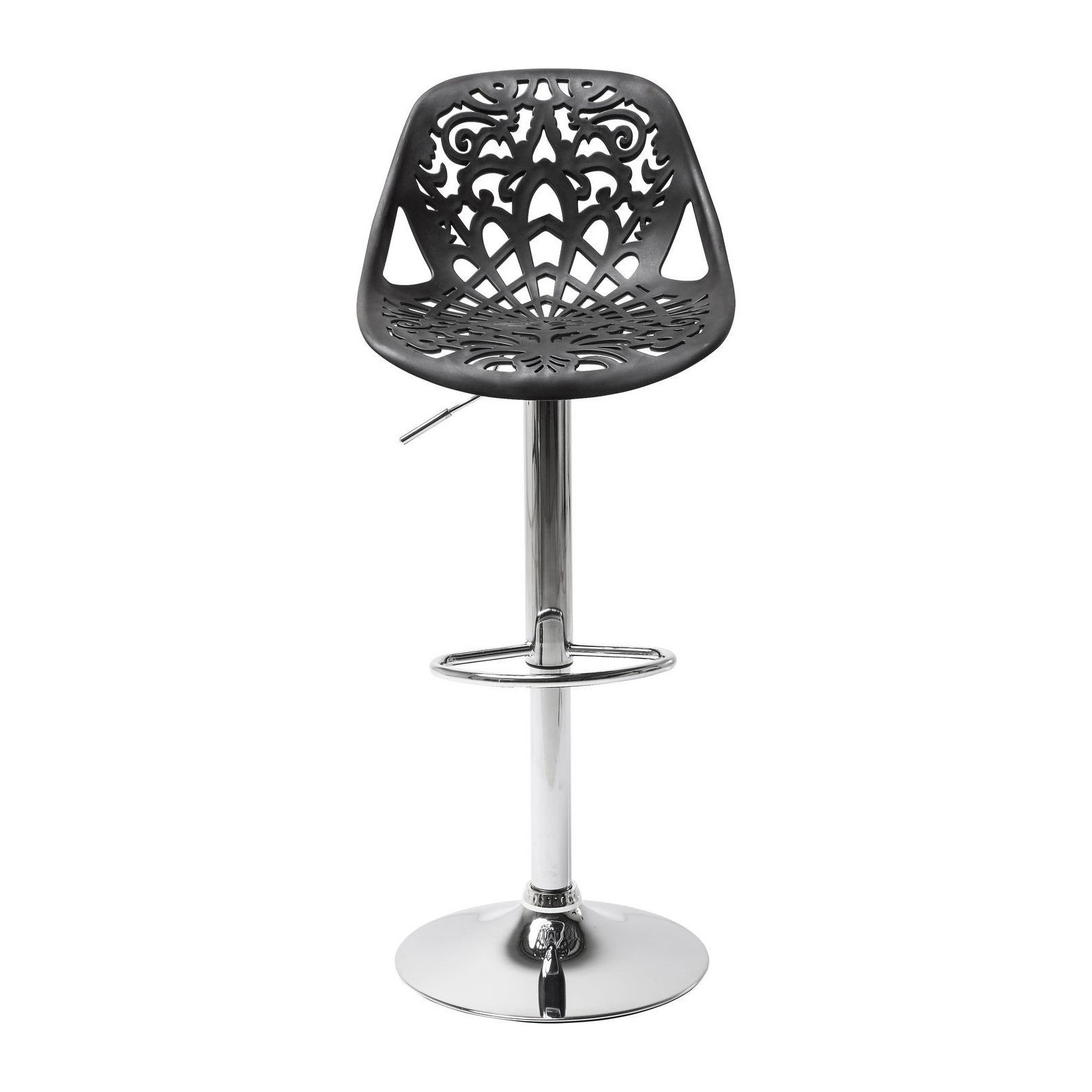 Tabouret De Bar Contemporain Noir Ornament Kare Design