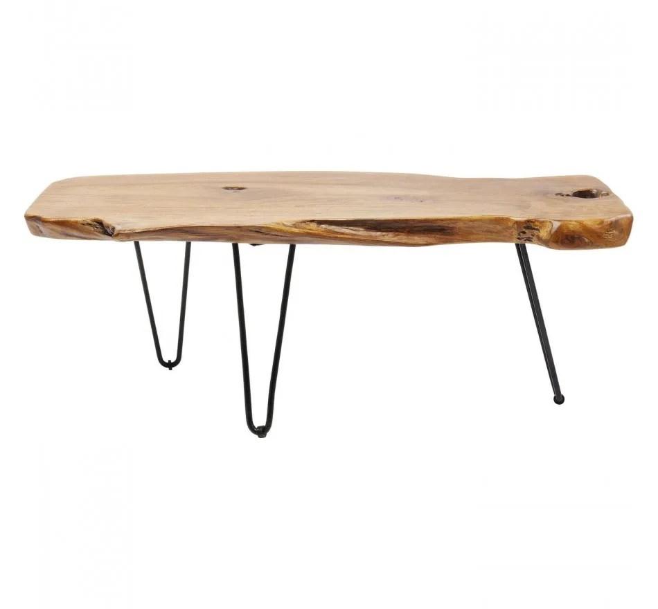 table basse aspen 100x40cm nature kare design
