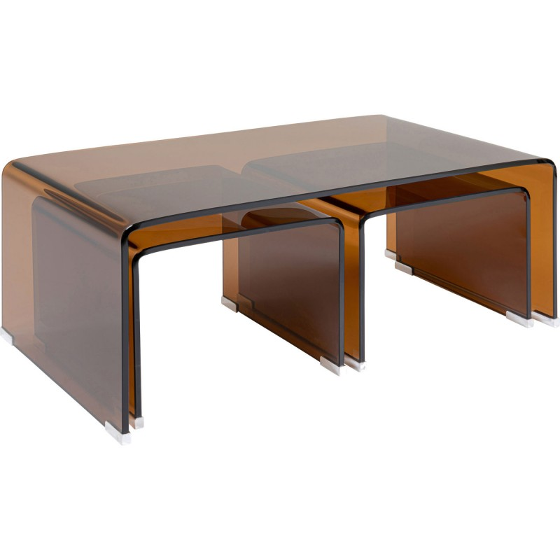 glass coffee table visible amber